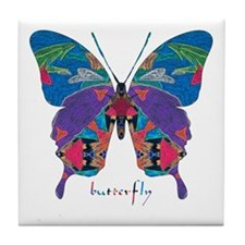 Exuberant Butterfly Tile Coaster