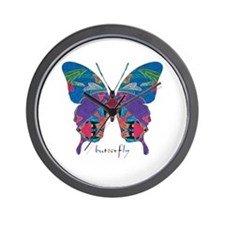 Exuberant Butterfly Wall Clock
