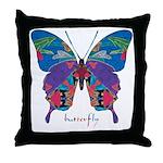 Exuberant Butterfly Throw Pillow