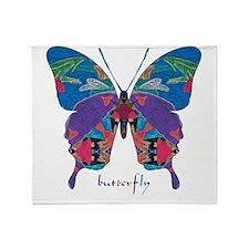 Exuberant Butterfly Throw Blanket