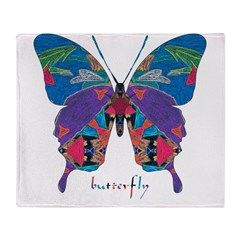Exuberant Butterfly Throw Blanket