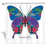 Exuberant Butterfly Shower Curtain
