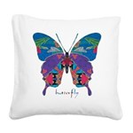 Exuberant Butterfly Square Canvas Pillow