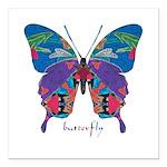 Exuberant Butterfly Square Car Magnet 3