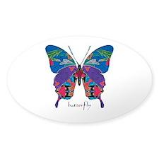 Exuberant Butterfly Sticker (Oval)
