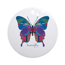 Exuberant Butterfly Ornament (Round)