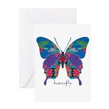 Exuberant Butterfly Greeting Card
