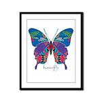 Exuberant Butterfly Framed Panel Print