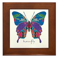 Exuberant Butterfly Framed Tile