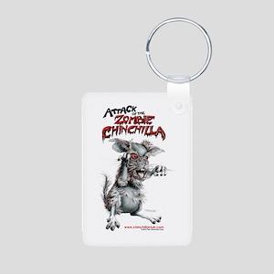 Attack of the Zombie Chinchilla Aluminum Photo Key