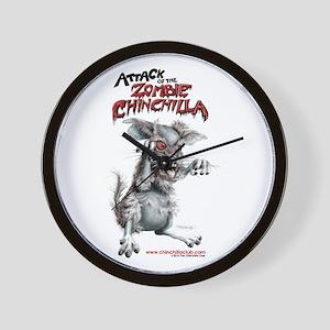 Attack of the Zombie Chinchilla Wall Clock