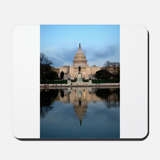 U.S. Capitol Building with Reflection Mousepad