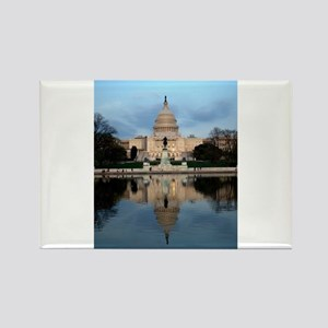 U.S. Capitol Building with Reflection Rectangle Ma