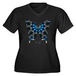 Witness Butterfly Women's Plus Size V-Neck Dark T-