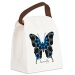 Witness Butterfly Canvas Lunch Bag
