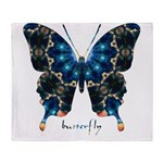 Witness Butterfly Throw Blanket