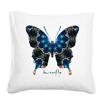 Witness Butterfly Square Canvas Pillow