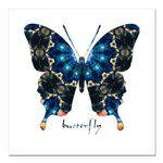 Witness Butterfly Square Car Magnet 3
