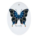 Witness Butterfly Ornament (Oval)
