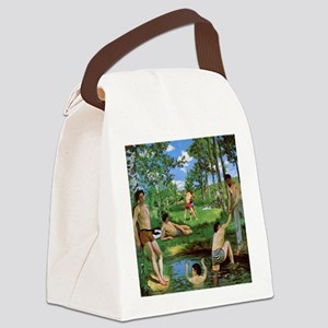 Bathers by Bazille Canvas Lunch Bag