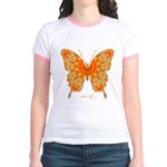Jewel Butterfly Jr. Ringer T-Shirt