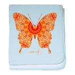 Jewel Butterfly baby blanket