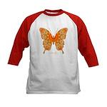 Jewel Butterfly Kids Baseball Jersey
