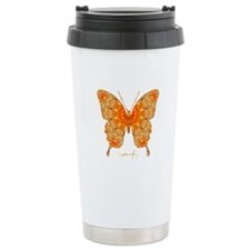Jewel Butterfly Stainless Steel Travel Mug
