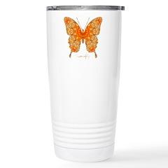 Jewel Butterfly Stainless Steel Travel Mug