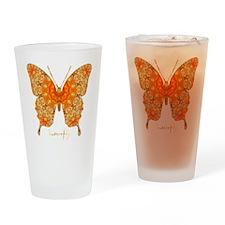 Jewel Butterfly Drinking Glass
