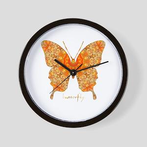 Jewel Butterfly Wall Clock