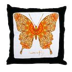 Jewel Butterfly Throw Pillow
