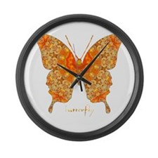 Jewel Butterfly Large Wall Clock