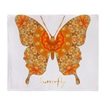 Jewel Butterfly Throw Blanket