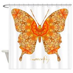 Jewel Butterfly Shower Curtain
