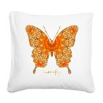 Jewel Butterfly Square Canvas Pillow