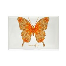 Jewel Butterfly Rectangle Magnet