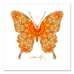 Jewel Butterfly Square Car Magnet 3