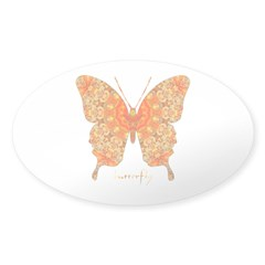 Jewel Butterfly Sticker (Oval)