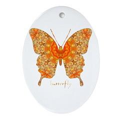 Jewel Butterfly Ornament (Oval)