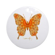 Jewel Butterfly Ornament (Round)