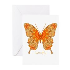 Jewel Butterfly Greeting Cards (Pk of 20)