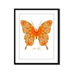Jewel Butterfly Framed Panel Print