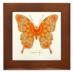 Jewel Butterfly Framed Tile