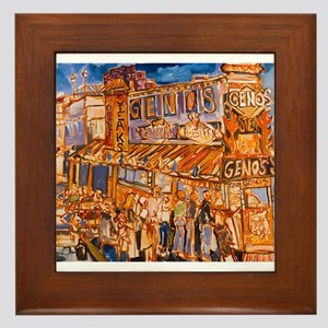 Philadelphia Genos CheeseSteak on 9th Framed Tile