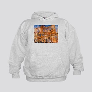 Philadelphia Genos CheeseSteak on 9th Kids Hoodie
