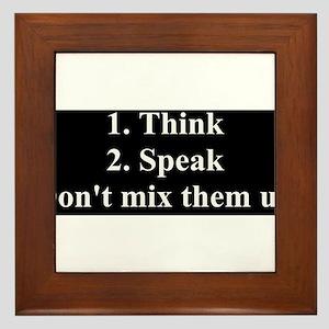 Don't Mix Them Up Framed Tile