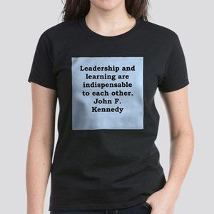 john f kennedy quote Women's Dark T-Shirt