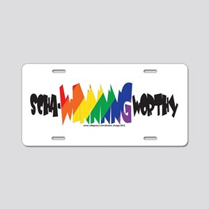 scha-WINNNG worthy rainbow Aluminum License Plate