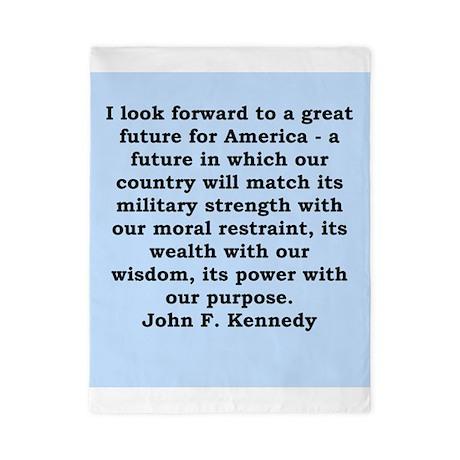 john f kennedy quote Twin Duvet